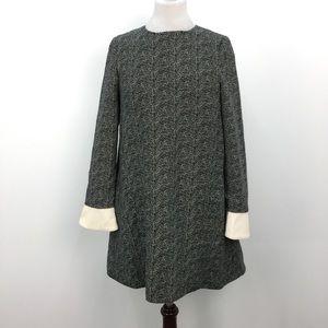 Essentiel Antwerp Black & White Herringbone Dress